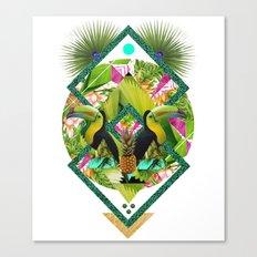 ▲ TROPICANA ▲ by KRIS TATE x BOHEMIAN BLAST Canvas Print