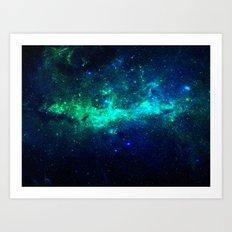 Bright Nebula Art Print