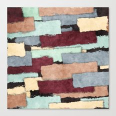 Abstract Patchwork Canvas Print