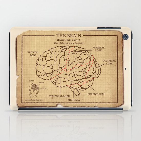 Food education for Zombies iPad Case