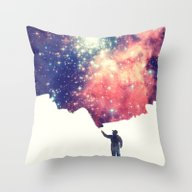 Throw Pillow featuring Painting The Universe by Badbugs_art