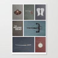 Walking Dead (colors) Canvas Print
