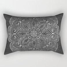 Wood Mandala - Silver Rectangular Pillow