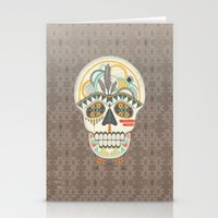 AZTEC SKULL B/W  Stationery Cards