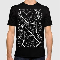 Ab Outline Mod Black SMALL Mens Fitted Tee
