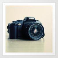Film Camera Canon 5000 Art Print