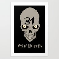 31 Days Of Halloween Art Print