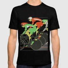 Velodrome Bike Race Black Mens Fitted Tee SMALL