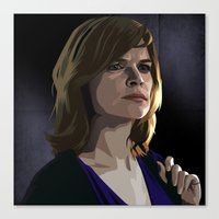 Canvas Print featuring Breaking Bad Illustrated - Marie Schrader by Martin Woutisseth