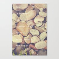 Rocks With Words Canvas Print