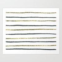 Golden Black Art Print