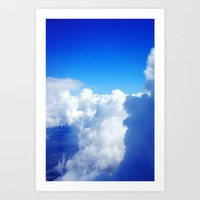 Up High In the Fluffy White Clouds Art Print