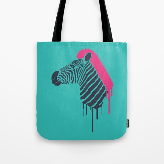 Zebra's Not Dead II Tote Bag
