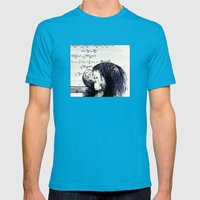 The Thinker Mens Fitted Tee Teal SMALL