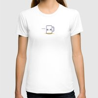 Drunk Womens Fitted Tee White SMALL