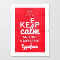 Keep Calm And Use A Diff… Canvas Print