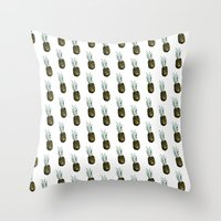 Take my pineapple! Pattern :) Throw Pillow