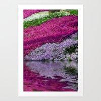 A Colorful River Art Print
