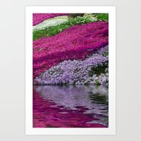 A Colorful River Art Print