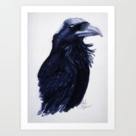 Art Print featuring .Raven by Isaiah K. Stephens