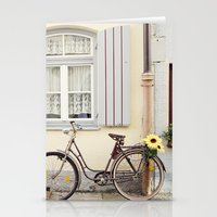 Retro bike Stationery Cards