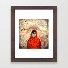 MALALA MUST DIE Framed Art Print