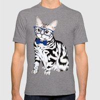 Kitty Mens Fitted Tee Tri-Grey SMALL