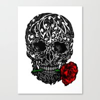 Skull Rose Canvas Print