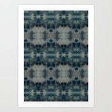 Dark Blue kaleidoscopic Art Print
