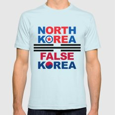 North Korea Mens Fitted Tee Light Blue SMALL