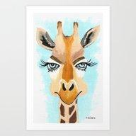 Art Print featuring The Flirt by Kathleen Sartoris
