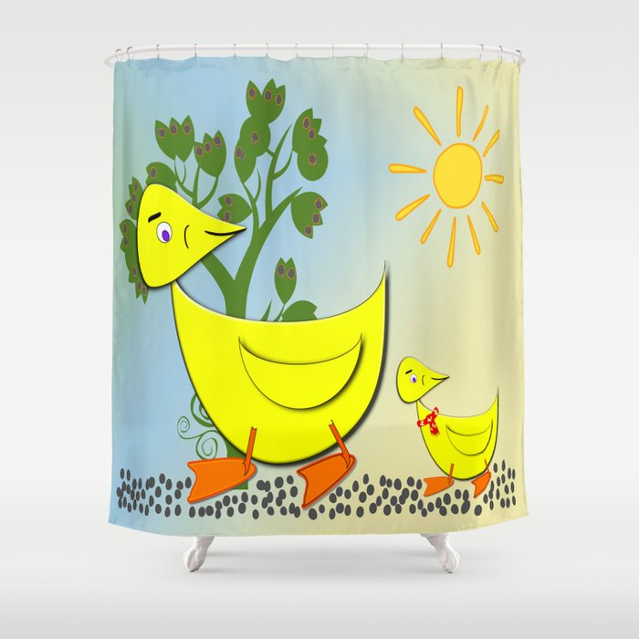 Duck And Ducky Shower Curtain By LoRo Art Amp Pictures