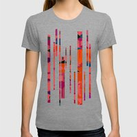 flamingos  Womens Fitted Tee Tri-Grey SMALL