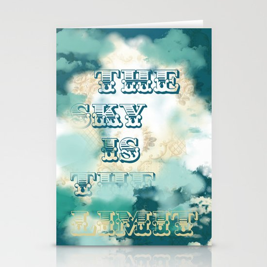 The Sky is the Limit Stationery Card