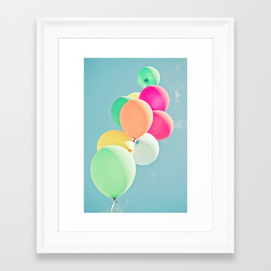 Balloon Mania Framed Art Print
