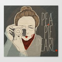 Canvas Print featuring pea pie Pearl by Le Butthead
