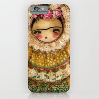 iPhone & iPod Case featuring Frida In A Brown And Green Tehuana Mexican Traditional Dress by Danita Art