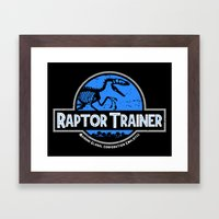 Raptor Trainer Framed Art Print