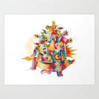 Firespirit In A Box Art Print