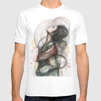 Beauty Illustration Mens Fitted Tee White SMALL