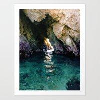 Colorful Ocean Cave Art Print