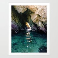 Colorful Ocean Cave Art Print