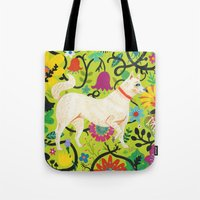 Spring Jindo Dog Tote Bag