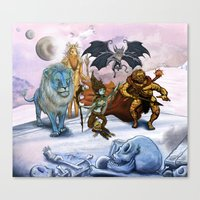 Glaar And The Floating K… Canvas Print