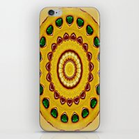 Golden Jewel With Emeral… iPhone & iPod Skin