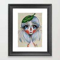 Elfling Study :: Leaf He… Framed Art Print