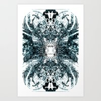 Telegraph [Digital Abstract Pen Artwork] Art Print