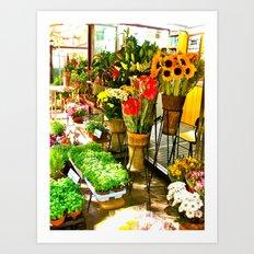 Flower Stand Art Print