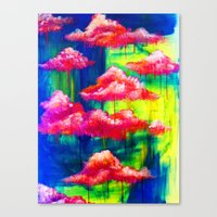 Candy Clouds Canvas Print