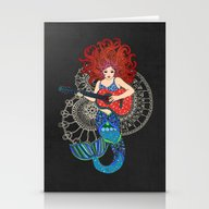 Musical Mermaid Stationery Cards
